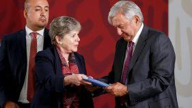 EL PRESIDENTE Andrés Manuel López Obrador y la secretaria ejecutiva de la Cepal, Alicia Bárcena, presentaron un plan de desarrollo en colaboración con México, Guatemala, Honduras y El Salvador para combatir las causas de la migración en la región.