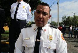 FERNANDO Vázquez Vivero, comandante de los bomberos