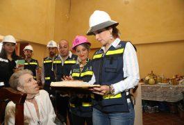 La titular de la SDUOP, Romy Rojas, supervisó lo que será el primer Museo de Sitio de Huimilpan