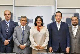 El gobernador de Querétaro, Francisco Domínguez Servién se reunió con la secretaria de la función pública Irma Eréndira Sandoval Ballesteros