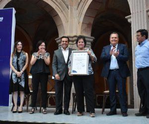 El alcalde Luis Nava durante la presentación oficial de la ruta de museos.