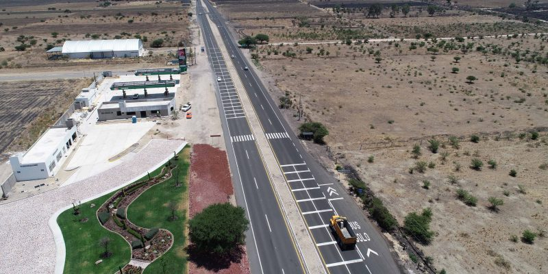 Los avances de la construcción del libramiento han contemplado el aumento del número de carriles en ambos sentidos.